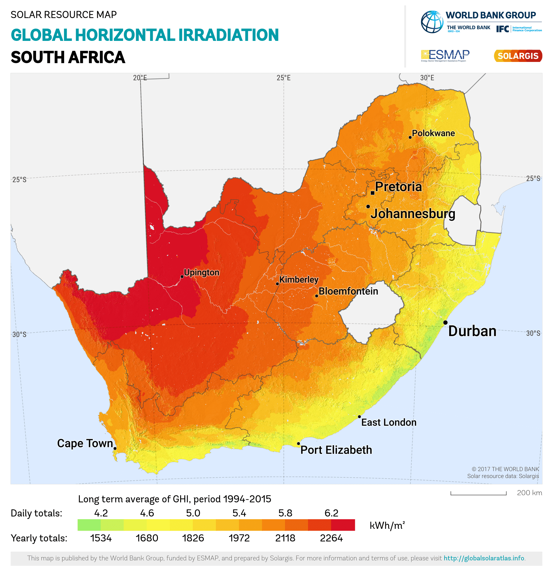 South Africa's Solar Irradiation